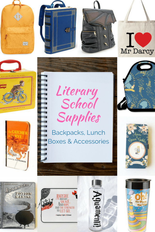 Ready for back-to-school? We can help with our round up of the best bookbags, ipad covers, pens, pencils, notebooks and more. All inspired by your favorite stories!