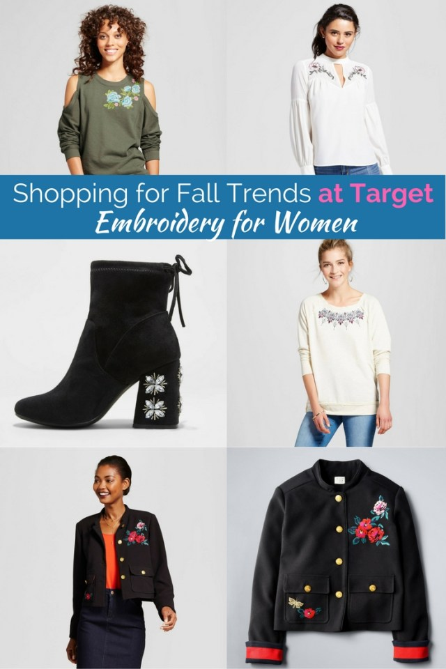 Affordable and adorable fall fashion trends from target. The cutest embroidered clothing for women.