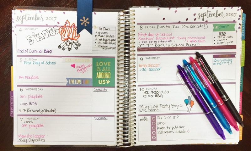 Erin Condren Life Planner Weekly Spread.