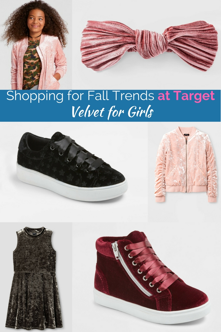 Velvet is huge for fall and winter in 2017 & 2018. The best of the fall fashion trends at target.