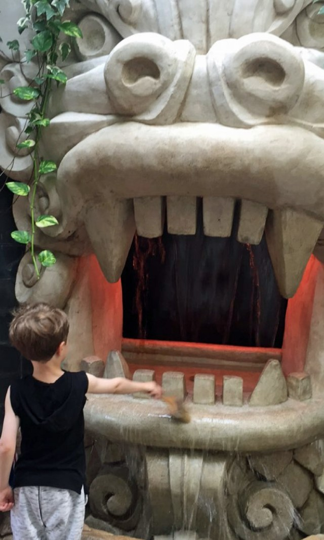 Kid's play zone at Longwood Gardens complete with interactive dragon painting!