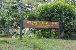 carlsmith beach park sign hawaii beach photography