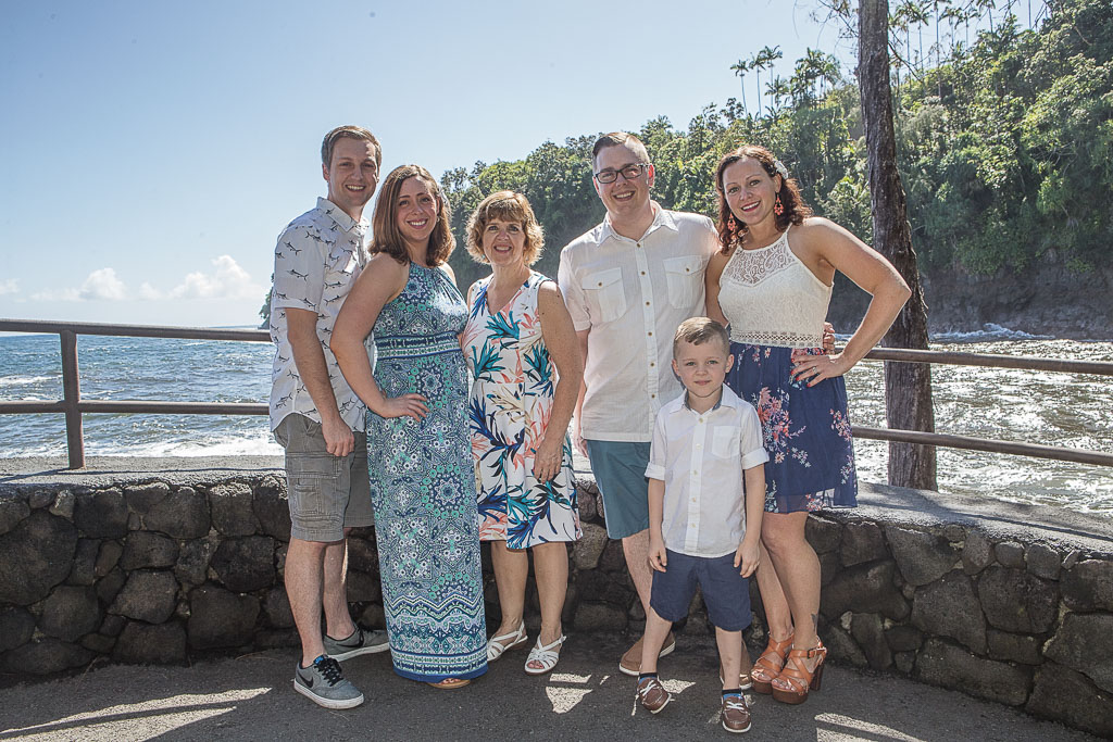 Hawaii Portrait family photo onemea bay hilo professional photographer