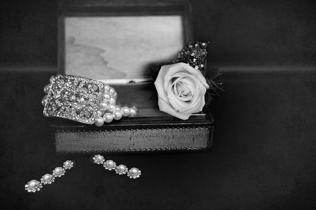 Hawaii wedding professional photographer bridal accessories with rose