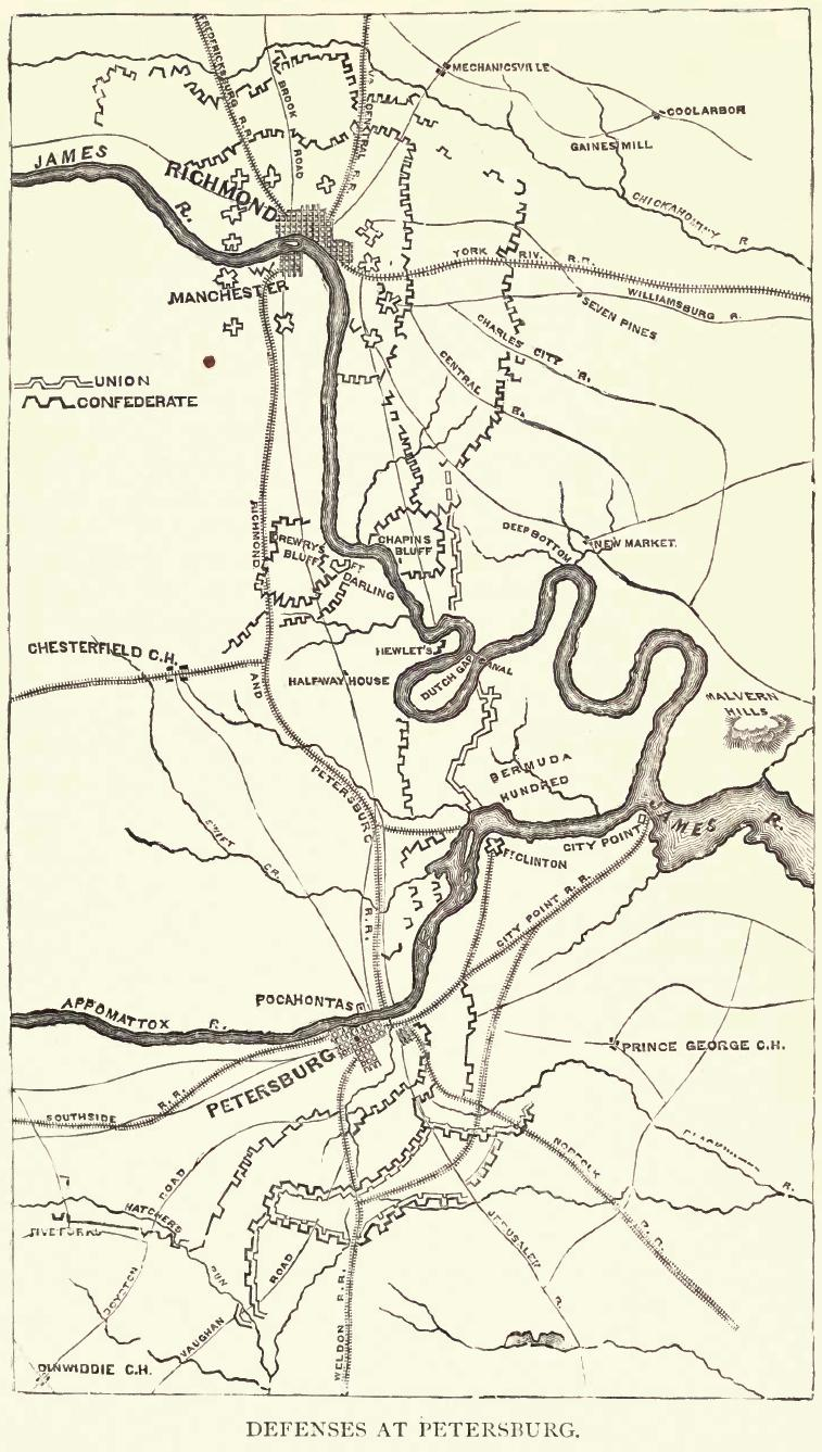 Defenses At Petersburg (125th NY Simons 1888, Page 221)