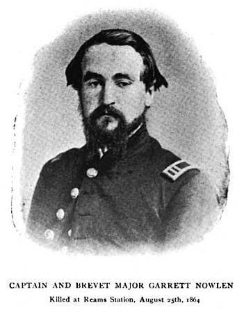 Captain Garrett Nowlen, 116th Pennsylvania