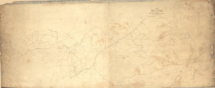 Map showing the operations of the Army of the Potomac under command of Mag. Gen. George G. Meade, : from March 29th to April 9th, 1865