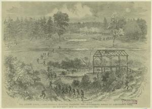 The Second Corps, under General Hancock, flanking the Confederate works at Armstrong's Mill, on Hatcher's Run, Va., October 27, 1864