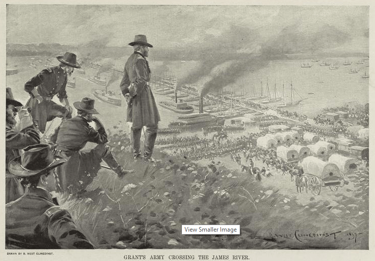 150 Years Ago Today The Crossing Of James River June 14 16