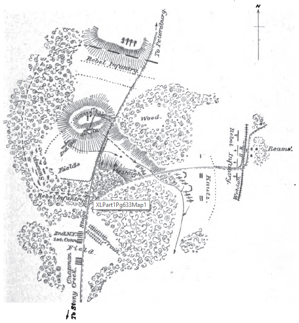 Union Position Near Reams Station: June 29, 1864 (OR XL, Part 1, Page 633)