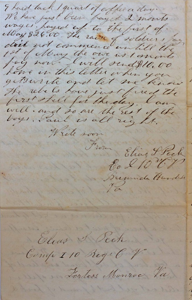 18640606 Elias Peck 10th CT Letter Page 4