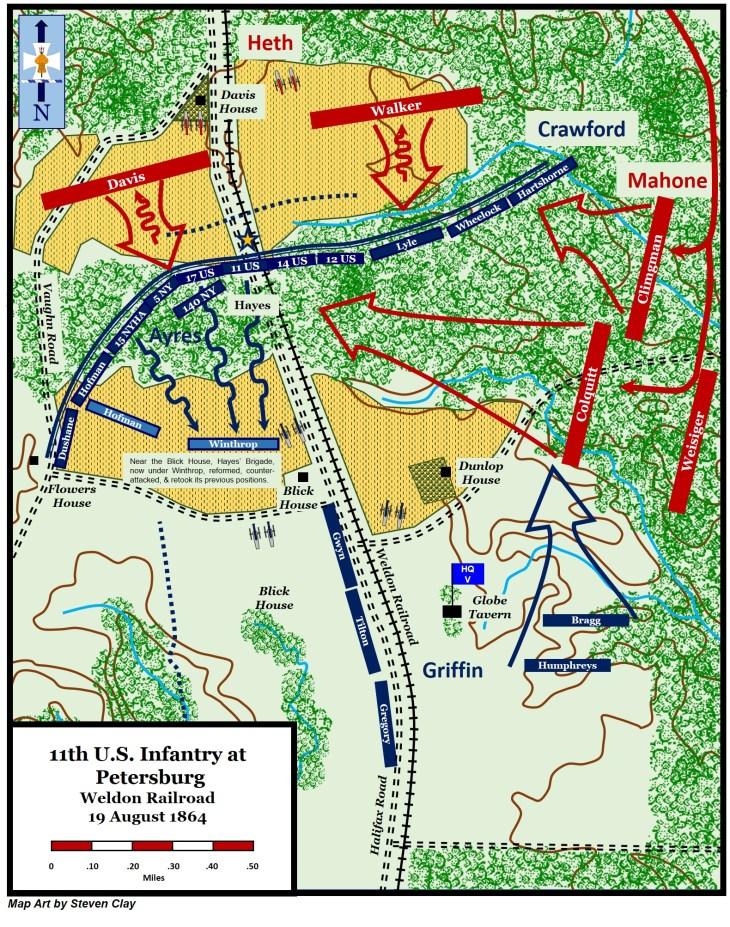 Battle of Weldon Railroad (Globe Tavern) 19 August 1864