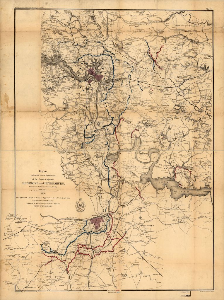 RegionEmbracedOpsRichmondAndPetersburgMichler1865