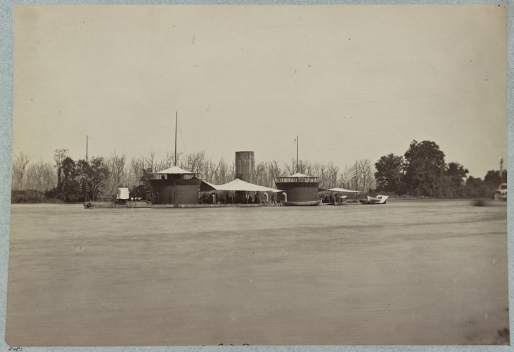 "33961v: Double turretted i.e. turreted monitor ""Onondaga"", James River, Va."