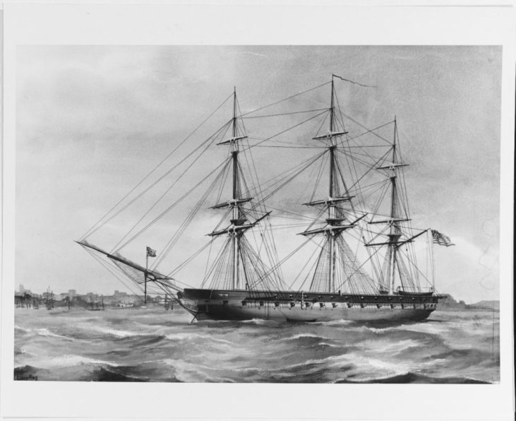 NH 57841 USS ST. LAWRENCE (1826- 1875)