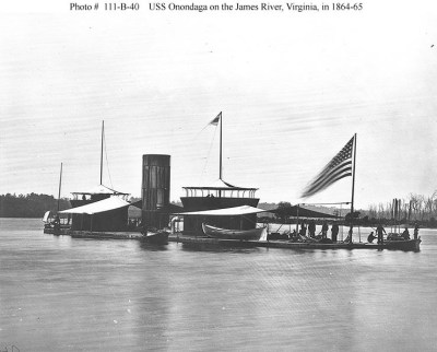 An image of the double turreted monitor Onondaga