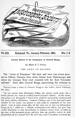 Image of cover of Southern Historical Society Papers