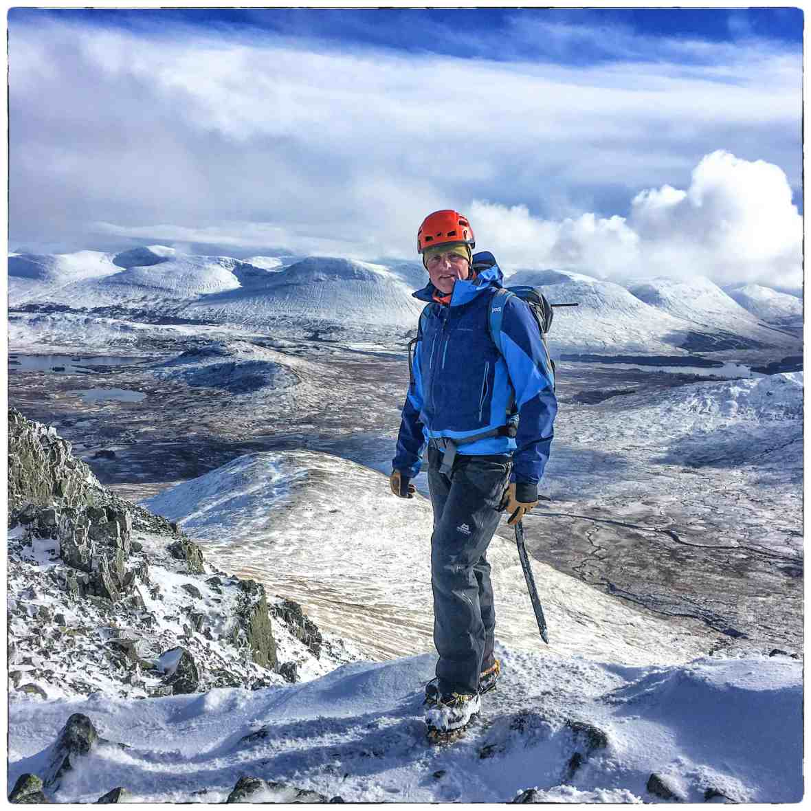 Beyond the Edge Director Chris in the White Corries in Scotland