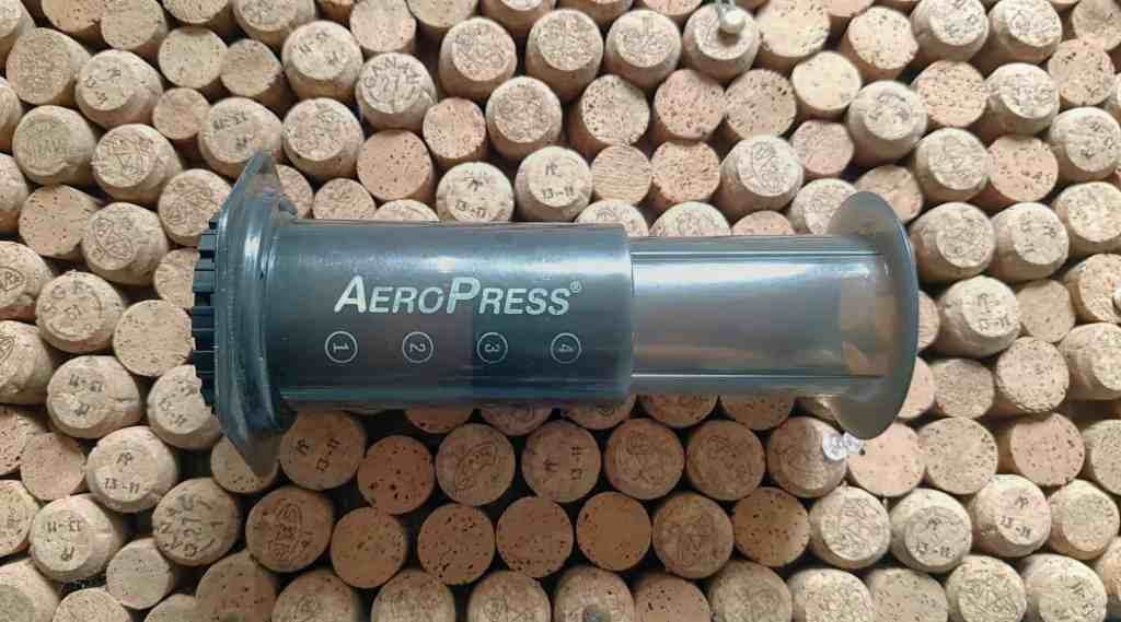 Aeropress coffee maker, ideal for making coffee outdoors