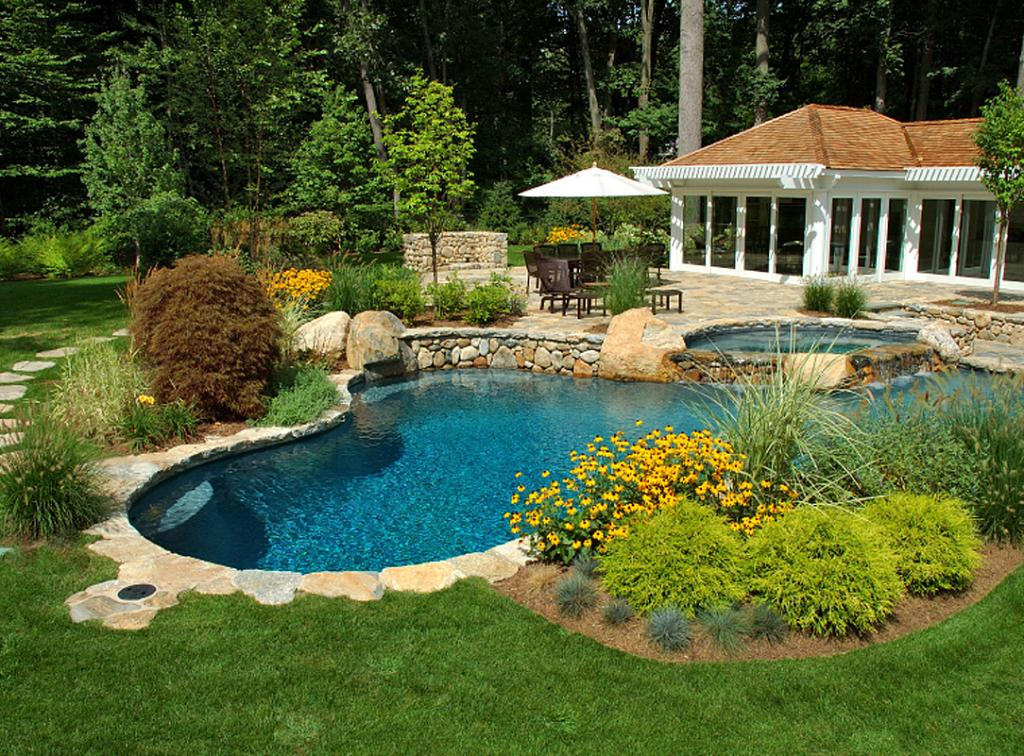 Get Small Yard Pool Landscaping PNG