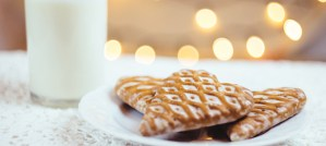 Gingerbread Cookies and Milk - Photo by freestocks.org