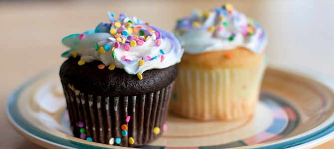 Birthday Cupcakes - Photo by Neil Conway