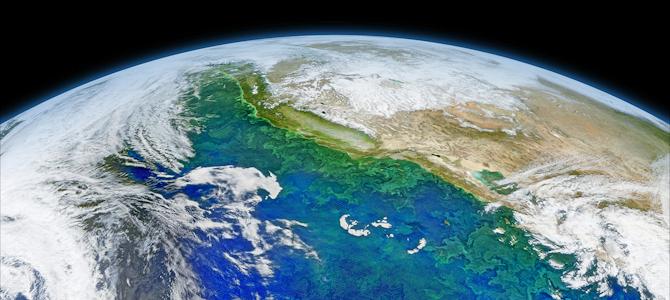 California and Baja Coast from Space - Photo by NASA/Goddard/Suomin-NPP/VIIRS