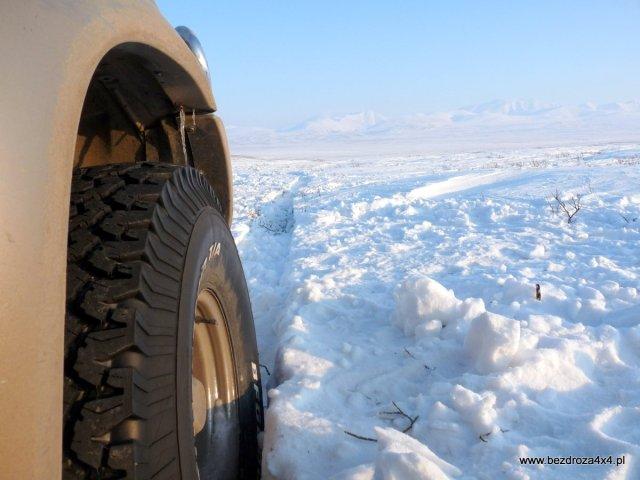 Widok na Ural z perspektywy koła :-)