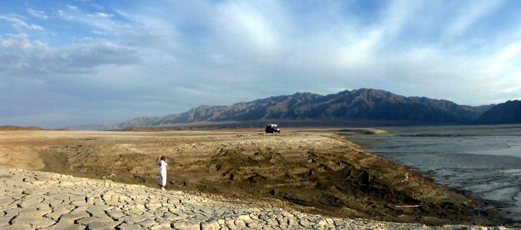 Panorama wyschniętego jeziora