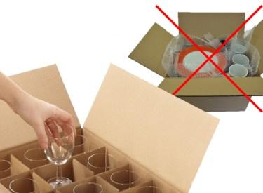 Carton vaisselle verres Beziers Box