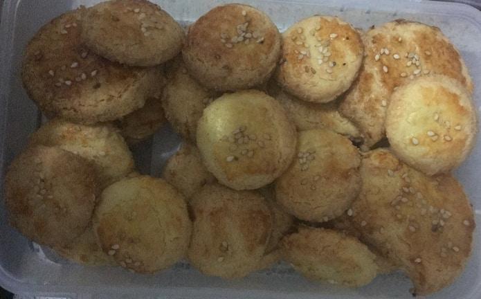 Bezlepkové slané syrové pagáče