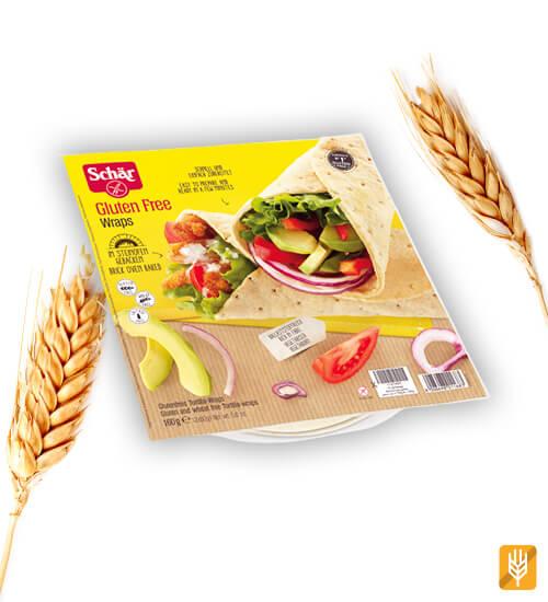 Bezlepkové wrapy - tortilli - Chlebové placky - Schar Wraps