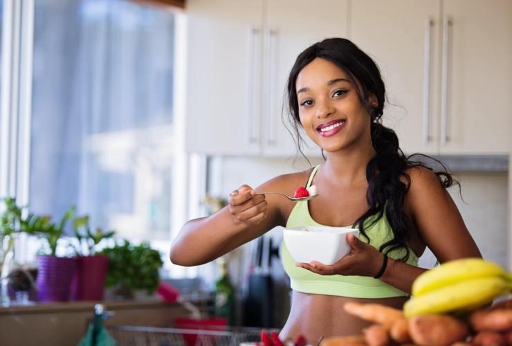 žena a raňajky