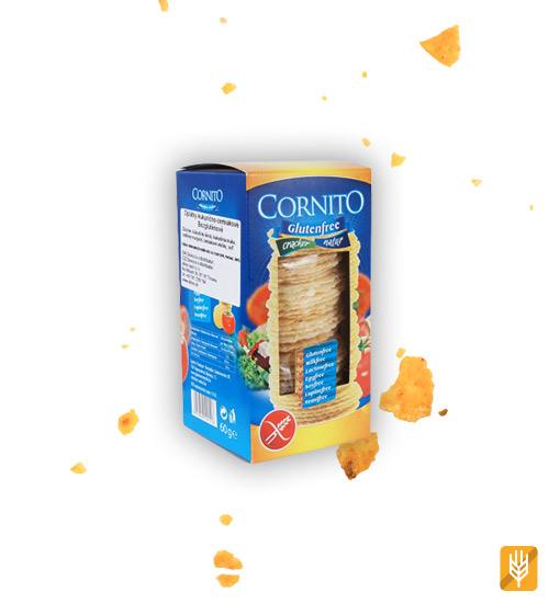 bezlepkové slané krekry - oblátky - Cornito