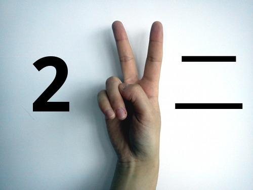 Zo tellen Chinezen twee met hun vingers