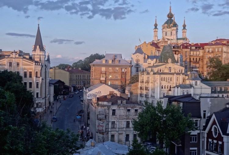 Andrejevski descent straat - Bezoek Kiev