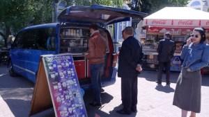 Koffie drinken op straat - Bezoek Kiev