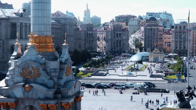 Maidan Nezalezhnosti plein - Bezoek Kiev