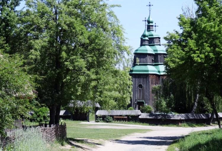 Pirogovo museum houten kerk - Bezoek Kiev