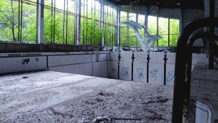 Tjernobyl zwembad - Bezoek Kiev