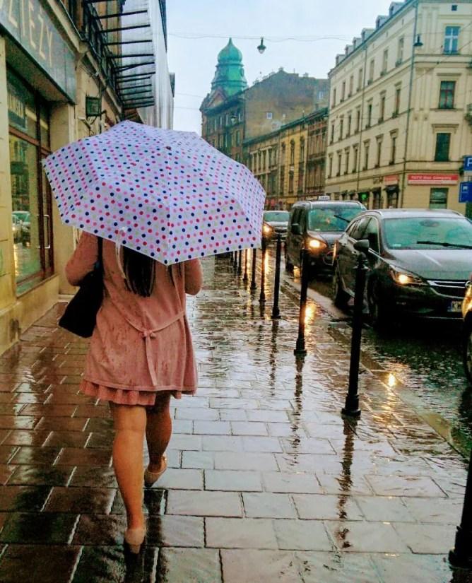 regen krakau stedentrip