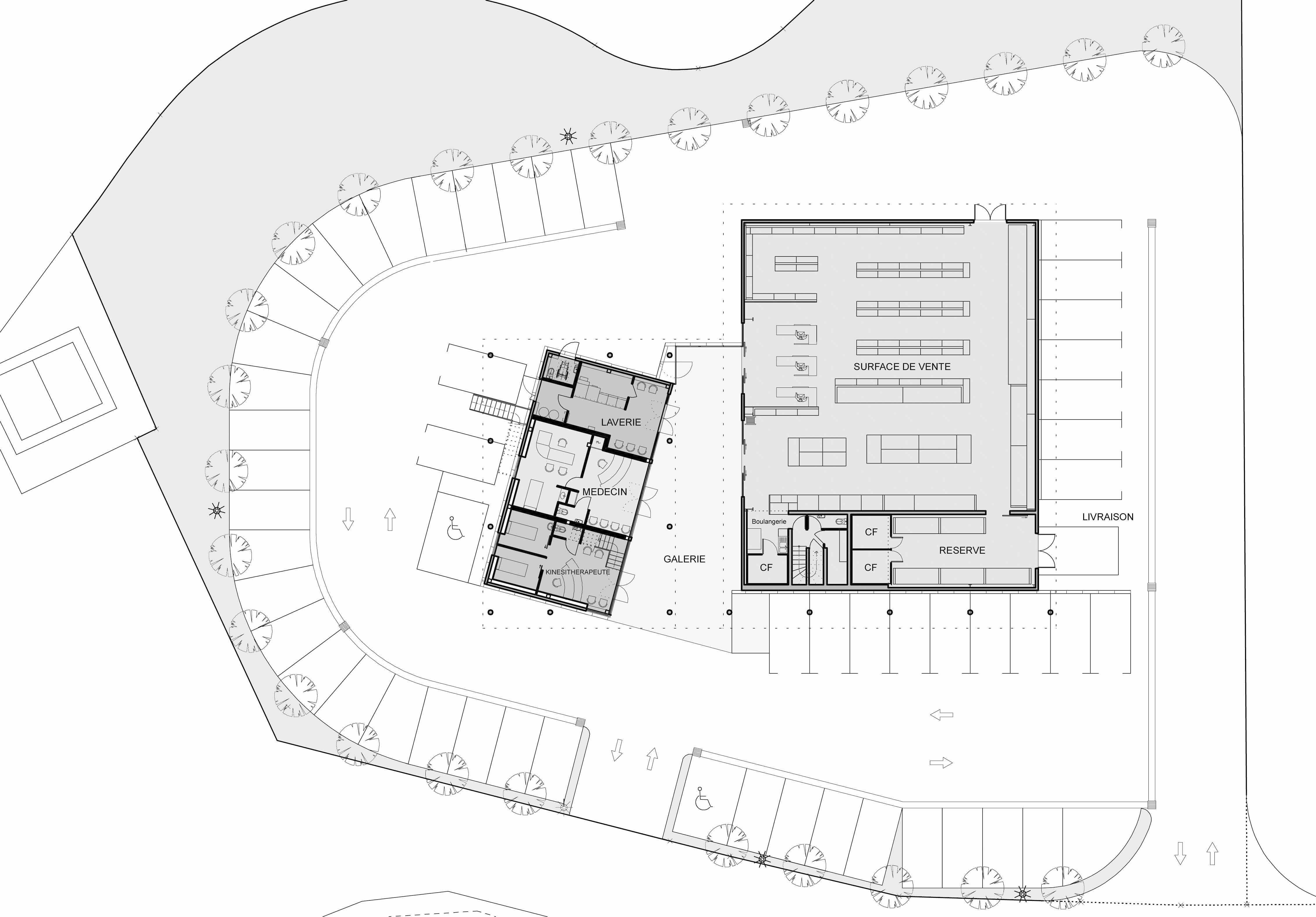 Intermarche Fitou BF Architecture plan