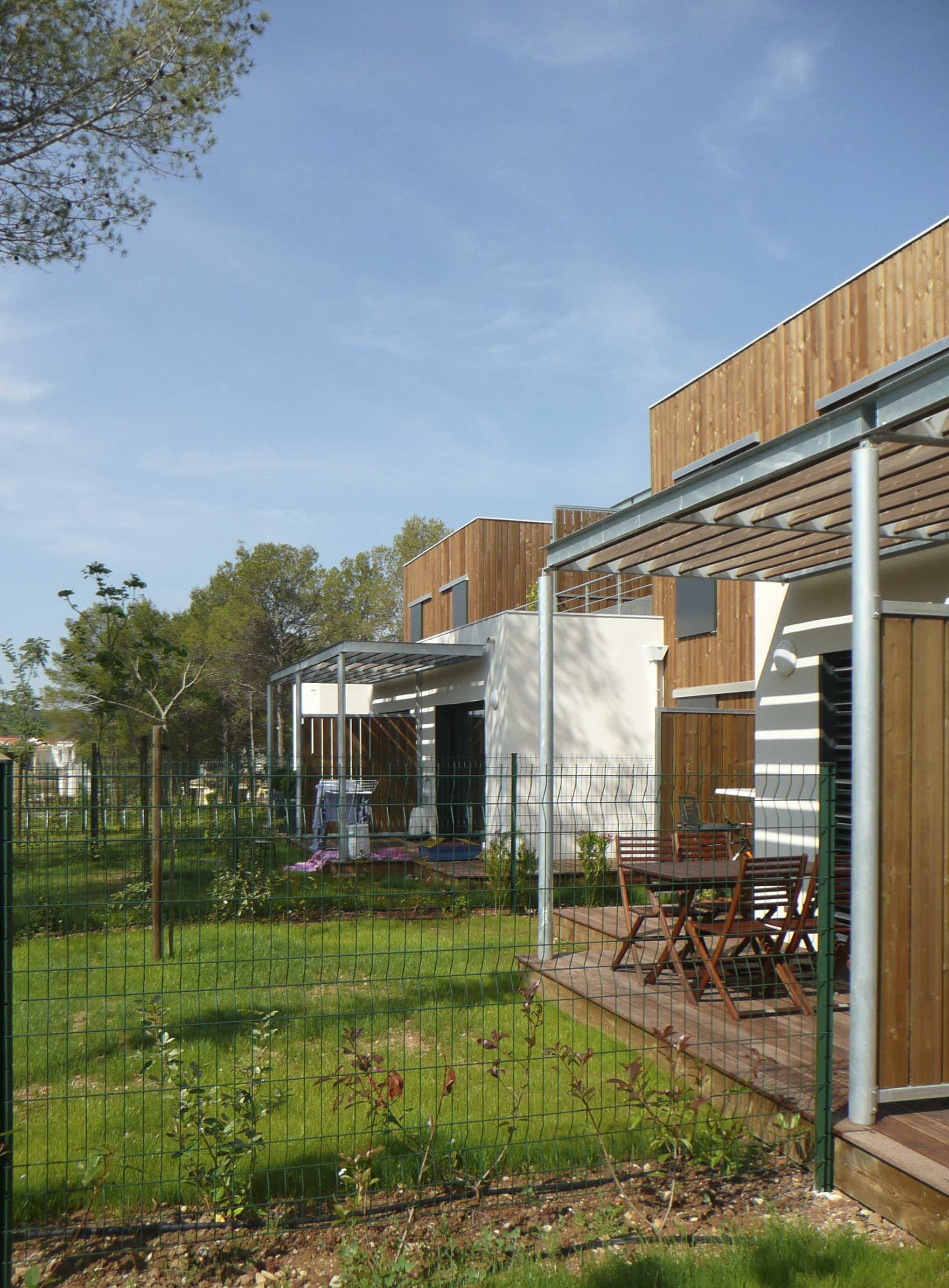 Maison mitoyenne ossature bois Hérault BF Architecture 5