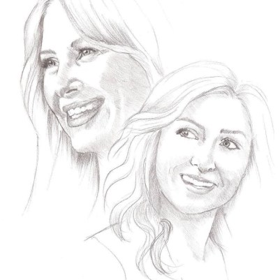 The first drawing Anna made of Jessica Capshaw and Sasha Alexander together