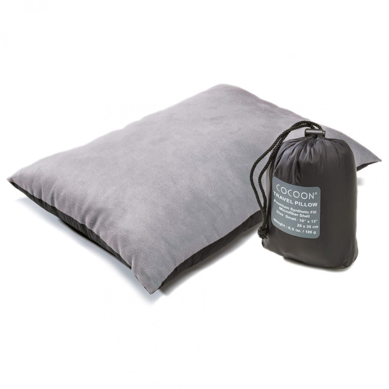 cocoon travel pillow nylon kissen charcoal smoke grey small 25 x 35 cm