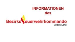 Information des BFKdo Villach-Land für 2019 online!