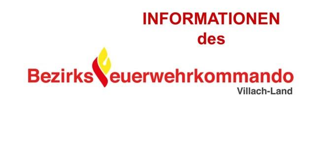 Information des BFKdo Villach-Land für 2018 online!