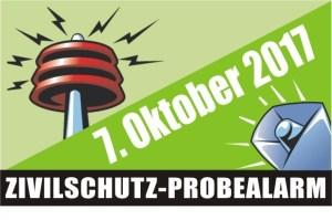 Zivilschutz-Probealarm am Samstag den 07. Oktober 2017
