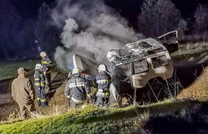 Fahrzeugbrand in Laastadt