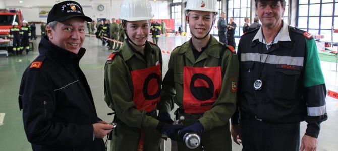 Drei Feuerwehrjugendmitglieder stellten sich dem FJLA in Gold in der Steiermark